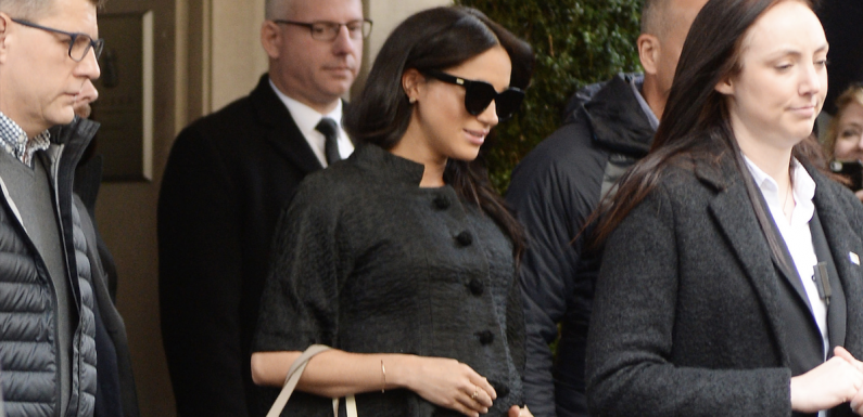 Meghan Markle Just Wore All Black for Her Baby Shower in NYC
