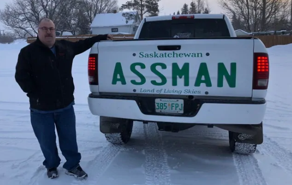 'Assman' displays name on truck's tailgate after license plate request denied