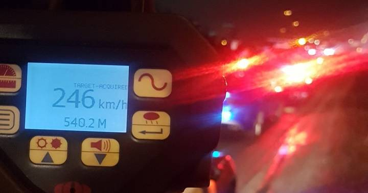 Ontario man caught driving 246 km/h on Hwy. 403 west of Toronto: police