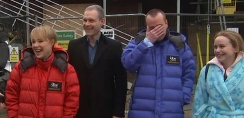 Corrie's Ben Price 'lets slip' factory roof collapse culprit live on GMB