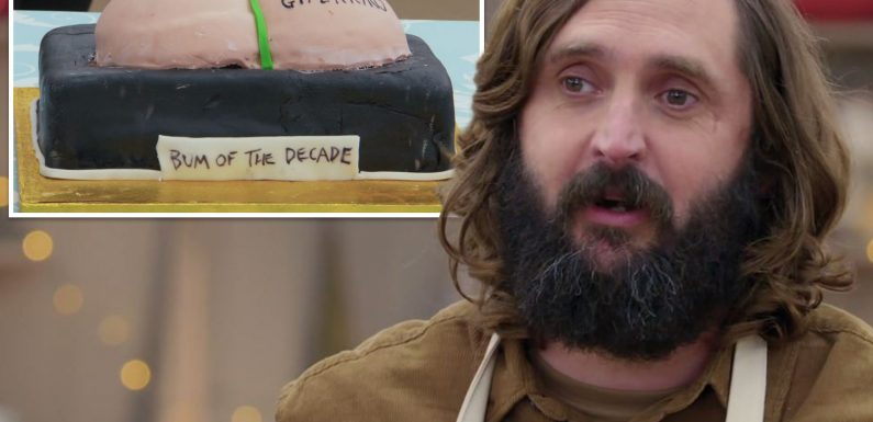 The Great Celebrity Bake Off fans in hysterics as Joe Wilkinson is named Star Baker after making a cake in the shape of his BOTTOM
