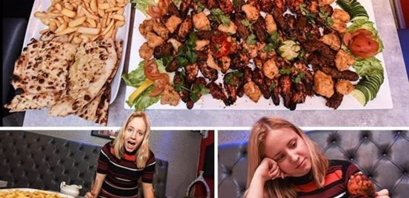 Britain's biggest mixed grill: 9,000 calorie gut-busting plate with TWENTY chickens