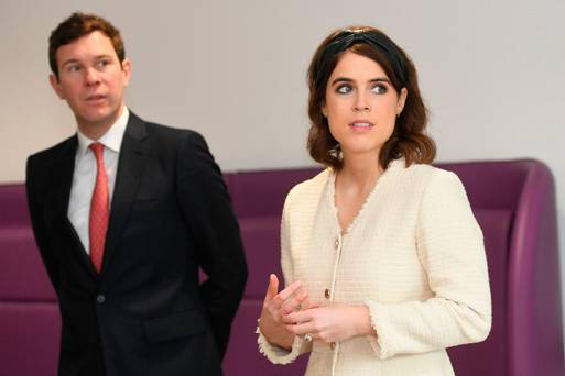 Britain's Princess Eugenie steps to the fore in tweed dress and leather headband for event in London