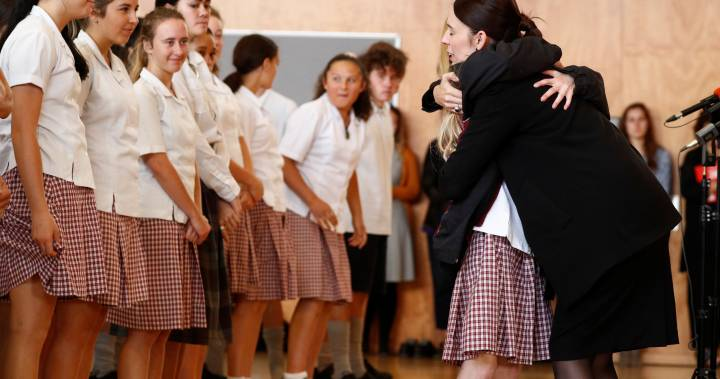 'It's OK to grieve': New Zealand PM to schoolmates of teens killed in mosque shooting