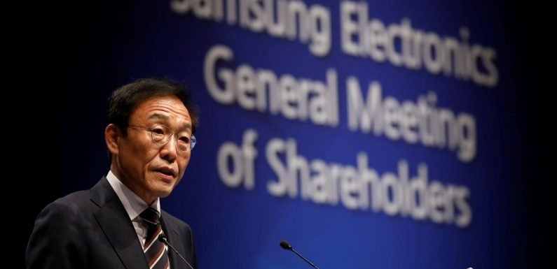Samsung Elec sees tough year with trade risks, slow growth: co-CEO