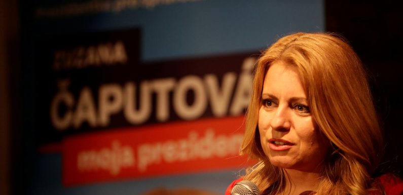 Anti-graft campaigner wins first round of Slovak presidential vote