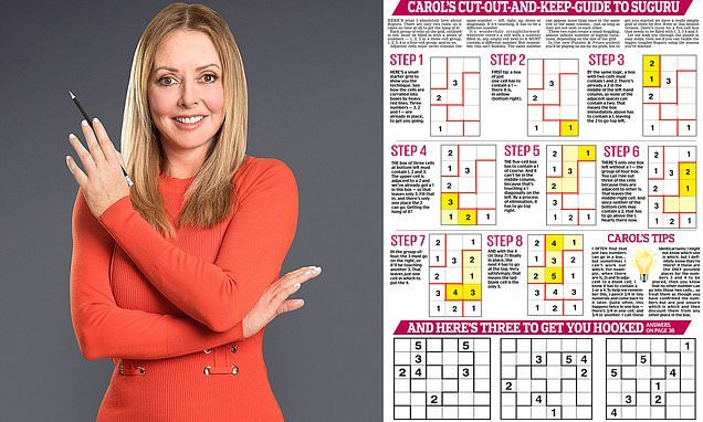 Carol Vorderman's puzzle could help train you to win £2,500