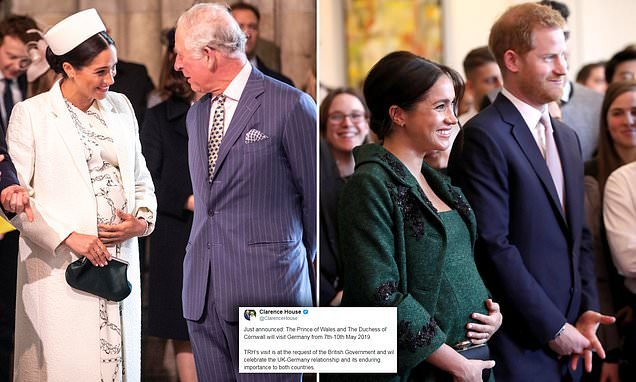 Duke of Edinburgh hints at Meghan's due date with royal travel plans