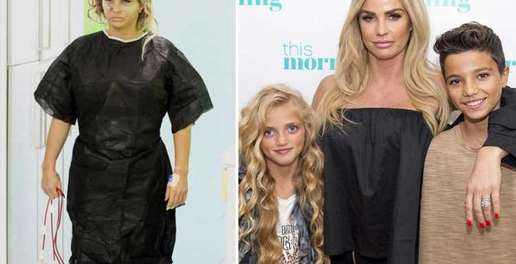 Katie Price, 40, risks leaving her kids motherless by having 'conjunctive surgery' and if she carries on she'll have a stroke or heart attack, claims leading cosmetic surgeons