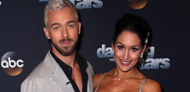 Nikki Bella and Artem Chigvintsev Attend DWTS' Val and Jenna's Wedding: Pics