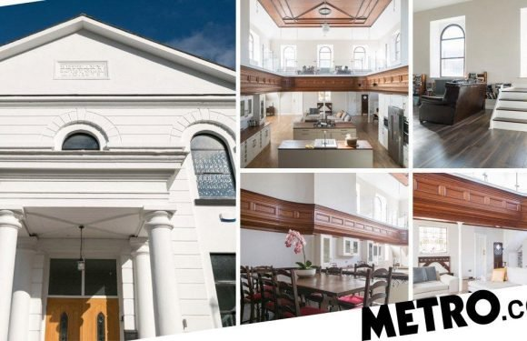 A stunning conversion of a church is up for auction at £200,000