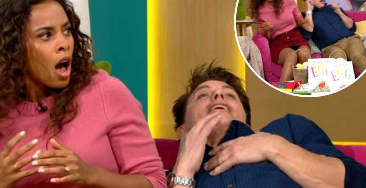 This Morning viewers in hysterics as John Barrowman is terrified by Easter bunny and jumps out of his skin