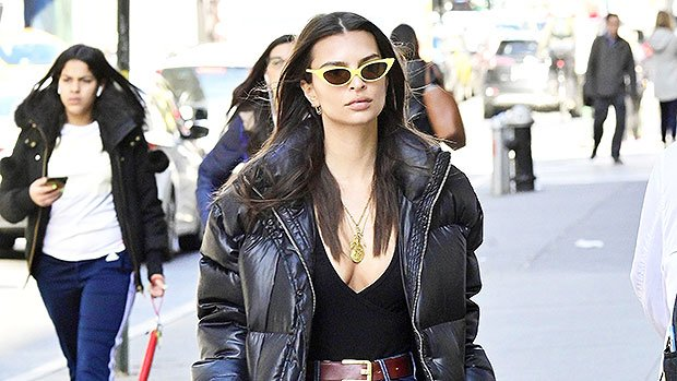 Emily Ratajkowski Looks Stunning In A Plunging Top & Jeans On A NYC Street – See Pic