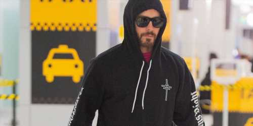 Jared Leto Rocks Thirty Seconds To Mars Merch While Arriving in NYC
