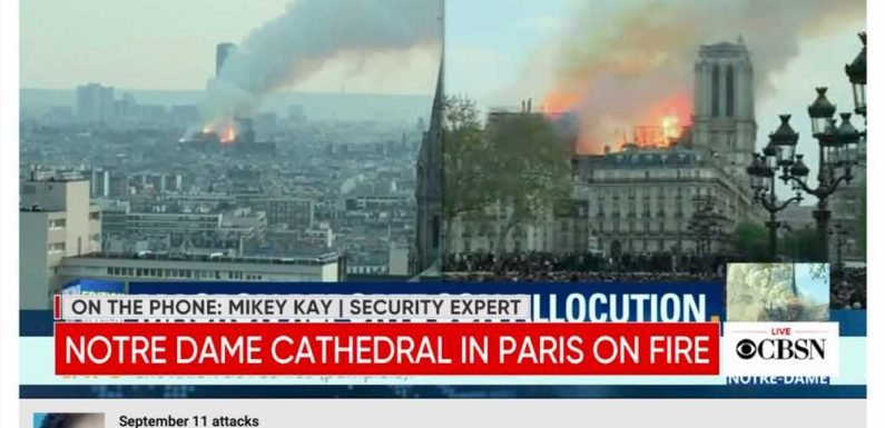 YouTube slammed for 9/11 link appearing on Notre Dame footage