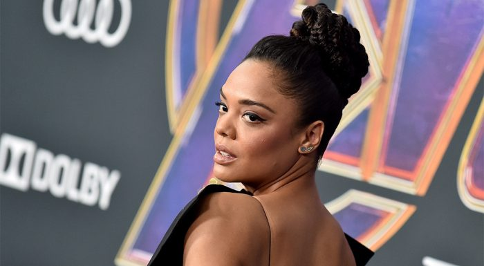 'Avengers: Endgame's' Tessa Thompson Says Valkyrie Would Spoon Captain Marvel, Thor