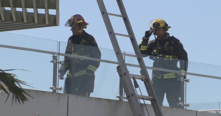 Crews battle 2-alarm fire, save paintings from Crescent Beach banquet hall