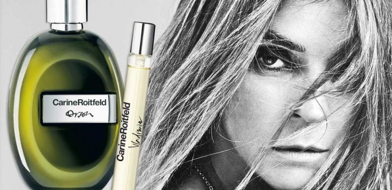 Editor Carine Roitfeld posed nude for her perfume ad campaign
