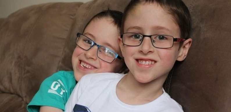 Parents in shock after discovering son has same brain tumour as his twin brother