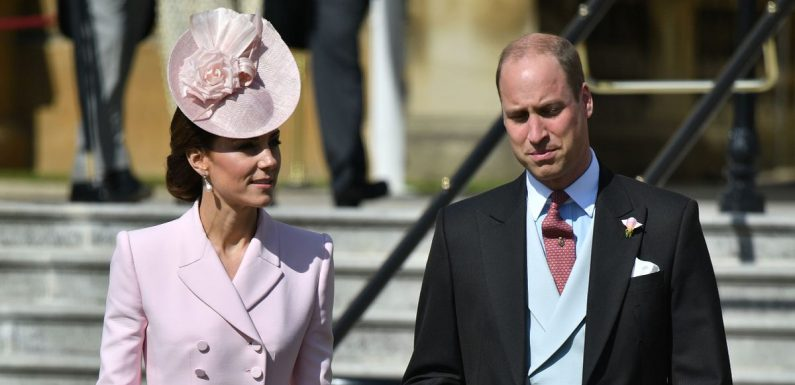 Kate Middleton and Prince William join the Queen for palace garden party