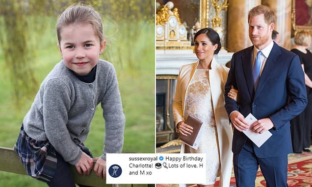Harry and Meghan share a touching message to niece Charlotte