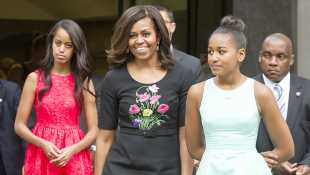 Michelle Obama Shares Sweet Pic With Malia, 20, Sasha, 17, & Her Mom & Pens Essay For Mother's Day