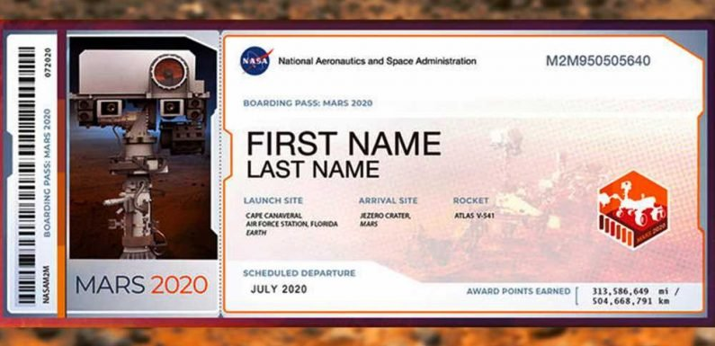 NASA will send your name to Mars with the 2020 Rover
