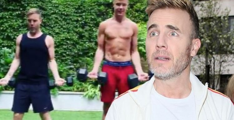 Gary Barlow: Take That star's son Dan sparks frenzy as they work out together 'Don't look'