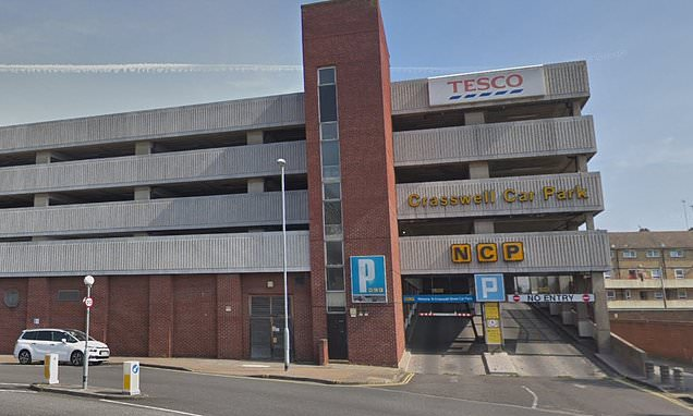 Boy is airlifted to hospital after falling from the roof of car park