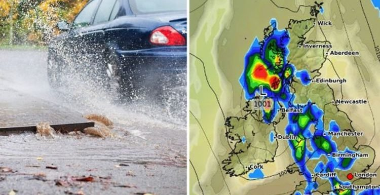 UK weather forecast: Nation SPLIT as travel chaos hits north and blazing sun shrouds south