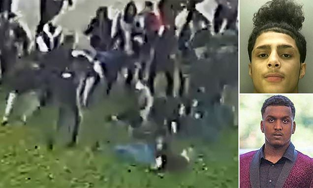 Footage shows teen stalking 'role model' student before stabbing him