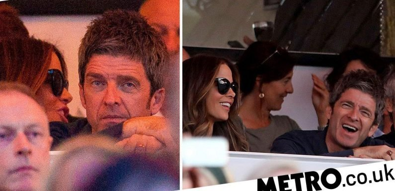 Kate Beckinsale and Noel Gallagher strike up friendship at Bob Dylan's BST set