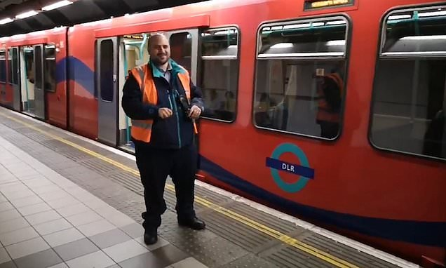 London Underground worker introduces train like a boxing announcer