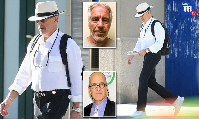 Jeffrey Epstein's brother is seen heading to the NYC subway