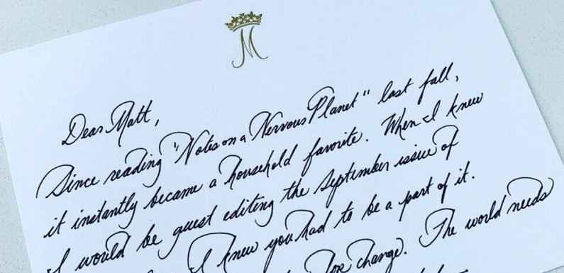 Meghan Markle showcases her flawless handwriting in unseen thank you note