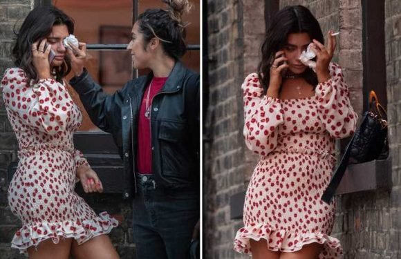 Megan Barton-Hanson seen crying after 'split' with Celebs Go Dating co-star Demi Sims