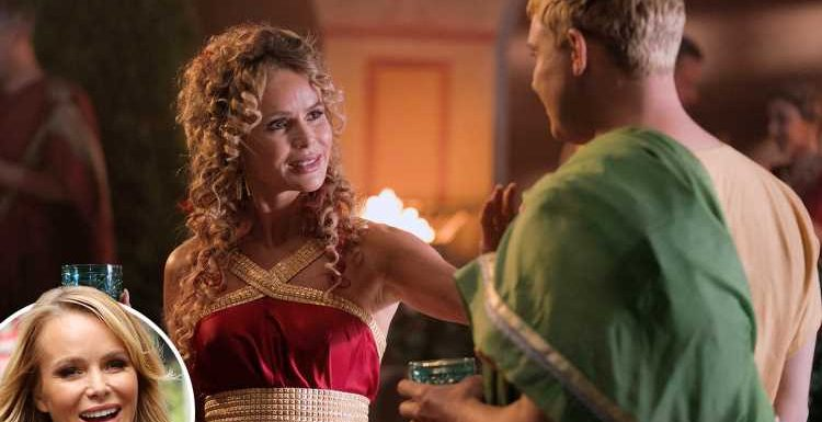 Amanda Holden says she's a flirty cougar who's 'on the prowl for guys' in E4 comedy Plebs