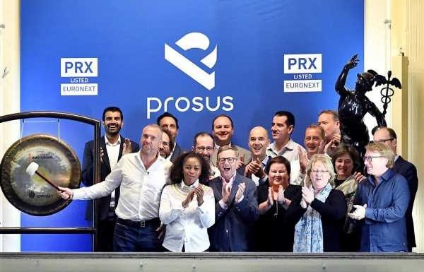 Naspers spin-off Prosus surges 25% on market debut in Amsterdam