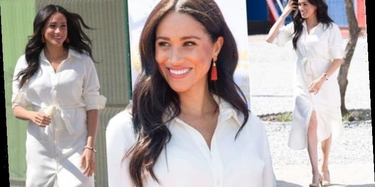 Meghan Markle: Thrifty Duchess wears £25 red tassel earrings on South Africa royal tour