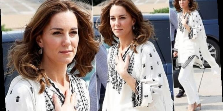 Kate Middleton cuts a casual look in oversized kaftan on final day of Pakistan tour