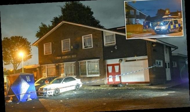 Two-year-old boy injured after gang launch knife attack outside pub