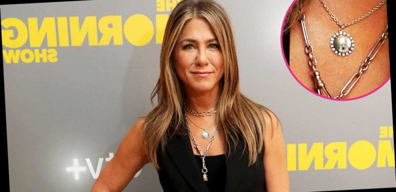 Jennifer Aniston Wears the Sweetest Necklace to Honor Late Dog Dolly