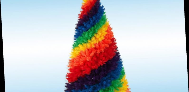 Rainbow Christmas trees are the bold new festive trend set to brighten up your living room – The Sun