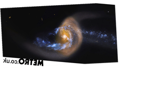 Nasa saw two galaxies colliding in an ominous portent of the Milky Way's future
