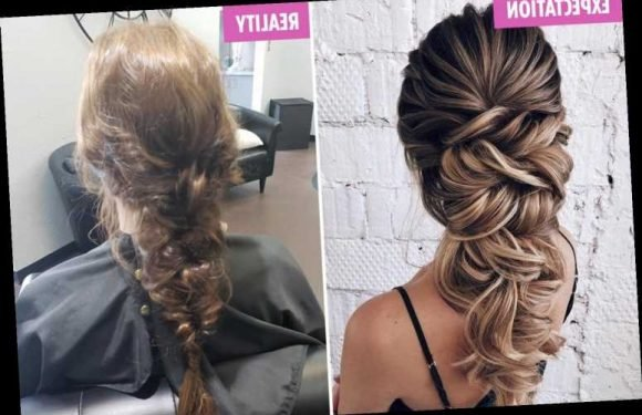 Wedding shamers mock bride's hair trial which looks like 'she's had a rough night out then slept in a bush' – The Sun