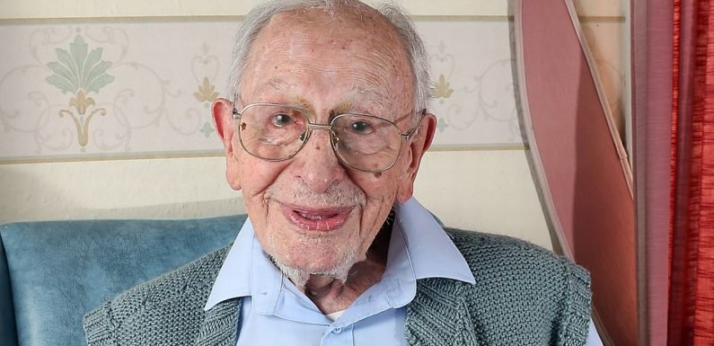 Great-grandad, 107, credits weekly fish and chip takeaways to keeping him young