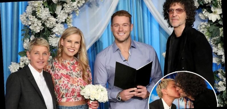 Howard Stern Kisses Ellen, Remarries Beth With 'Bachelor' Colton Underwood Officiating