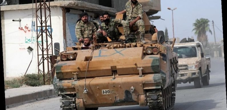 Turkish-led Syrian rebel fighters advancing on flashpoint region of Manbij