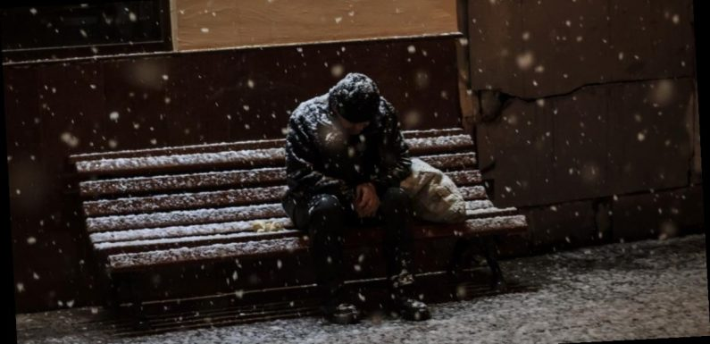 Simple steps to help if you see homeless person sleeping rough in freezing cold