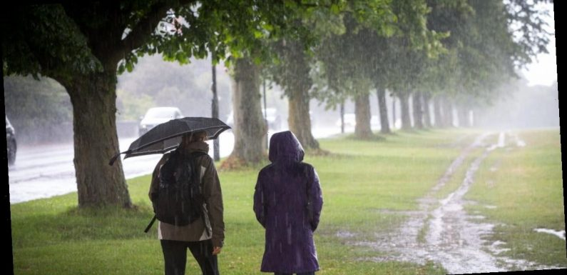 Britain to be lashed with rain with yellow warnings in place